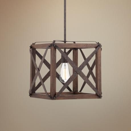 "Oaklyn 13"" Wide Rust Entry Pendant - Lamps Plus Entry Way?"