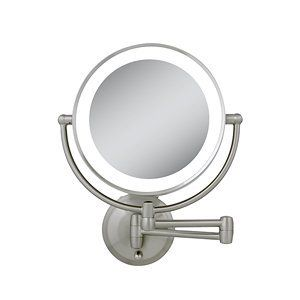 Zadro Next Generation LED Wall Mount Mirror, Satin Nickel, 1X-10X by Zadro. $119.99. Consumes 70% less energy than regular bulbs. Mounts onto the wall. On and off switch in base. Lifetime LED bulb never needs replacement. Easy to use, cordless. The Zadro next generation LED lighted wall mirror is an easy to use and install bathroom mirror that provides a dual-sided lighted mirror, with up to 10x magnification and a 360 degrees swivel, users can easily apply makeup, tweeze or sha...