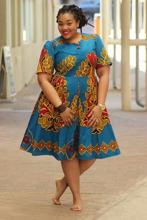 bdcb343a242 Beautiful Ankara African Print Style For Plus Size Ladies