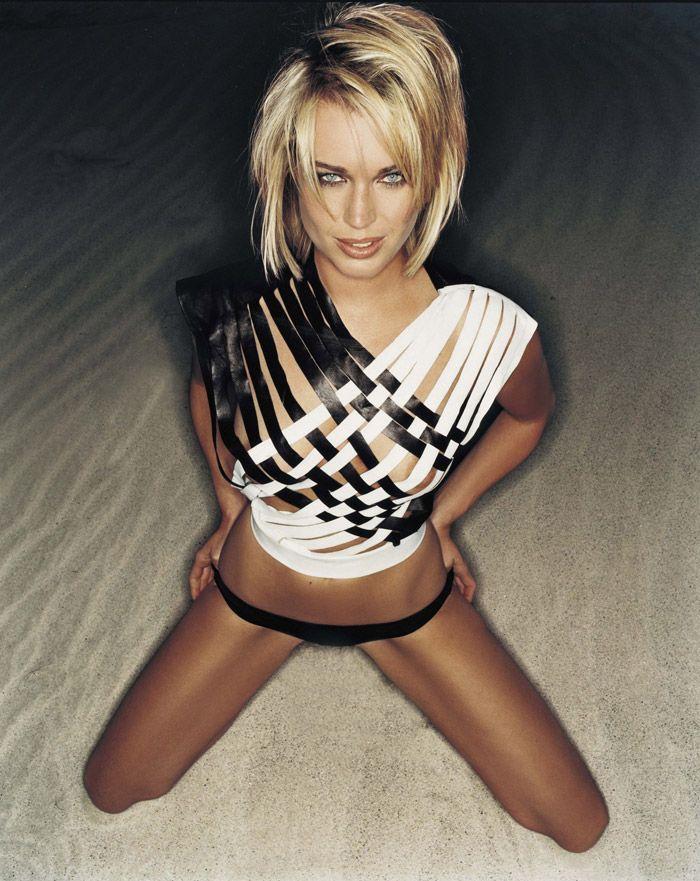 Ребекка Ромин (Rebecca Romijn) – Фотосессия для журнала Arena (июнь 2003) | Starer - Фотосессии знаменитостей