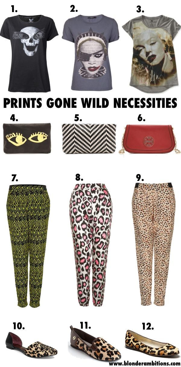 PRINTS GONE WILD | BLONDER AMBITIONS. fashion blog. lifestyle. rocker chic. girly. aztec tights. leopard print. rocker tee. #blonderambitions