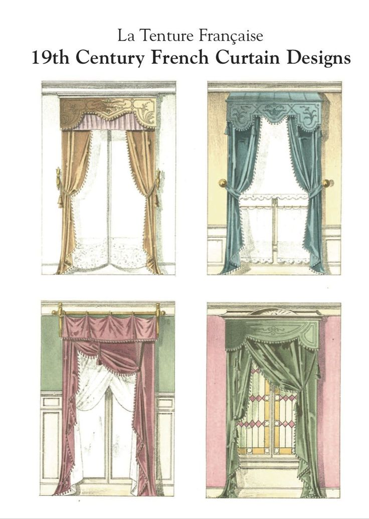 French Country curtain Ideas | La Tenture Francaise. 19th Century French Curtain Designs.