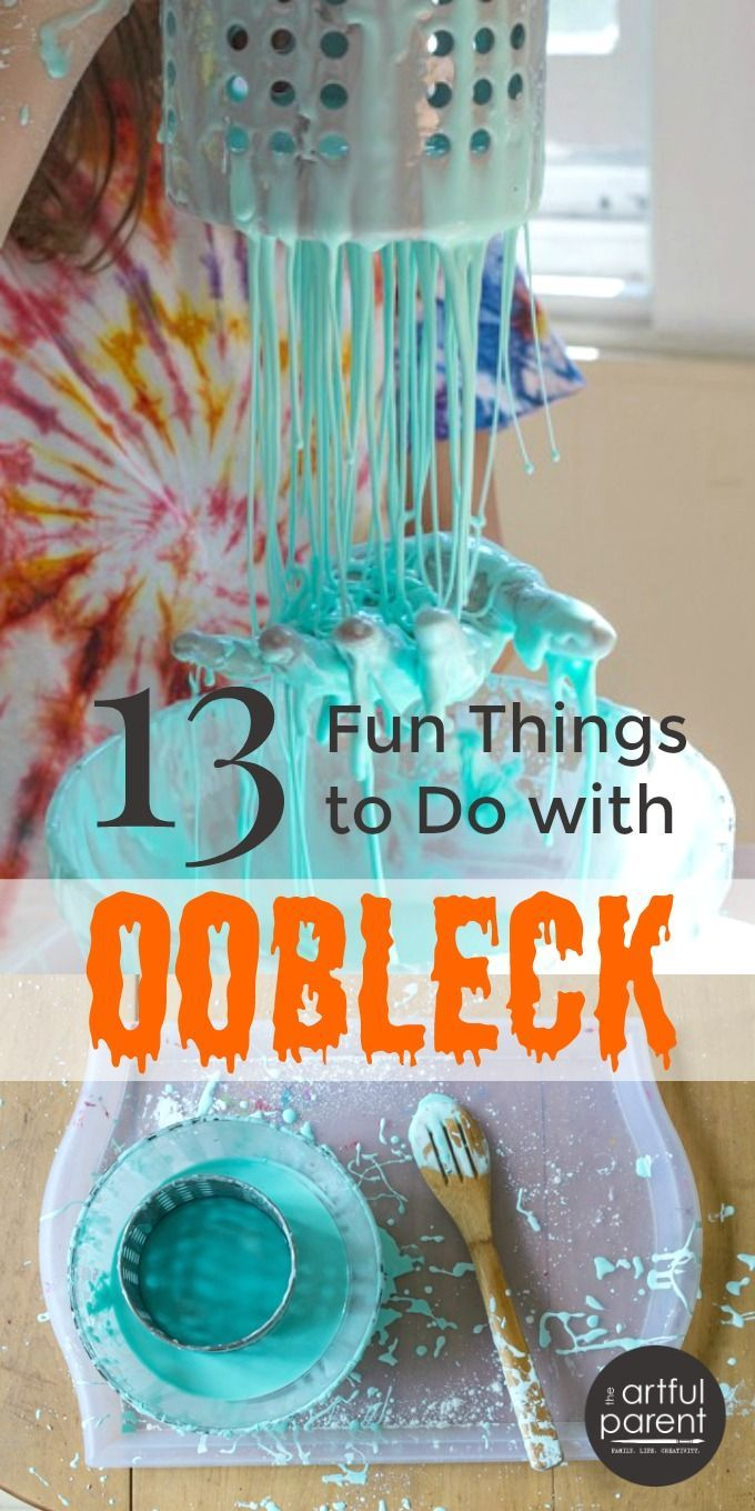 Oobleck :: 13 Fun Things To Do With Sensory Goop