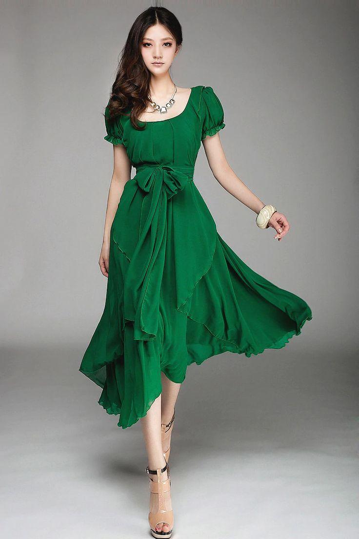 Grüne Kleider  Kleidung, Kleider, Lange kleider
