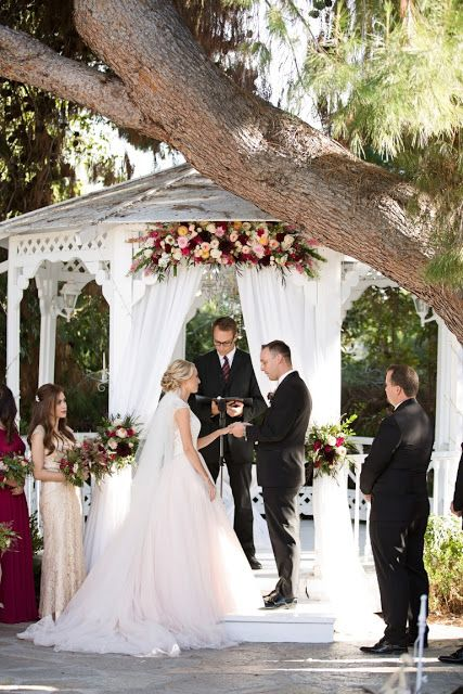 Green Gables Wedding Flowers, Blush & Wine flowers |Wedding Gazebo, San Diego Florist