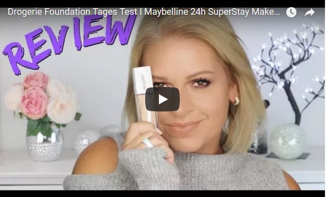 Drogerie Foundation Tages Test I Maybelline 24h SuperStay Make up Wirklich so gut ? Mamacobeauty