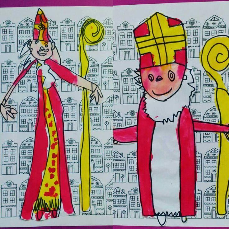 * Tekenen Sinterklaas...