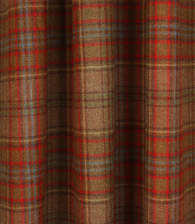 Voyage Decoration Struan Wool Fabric Rust Wool Plaid