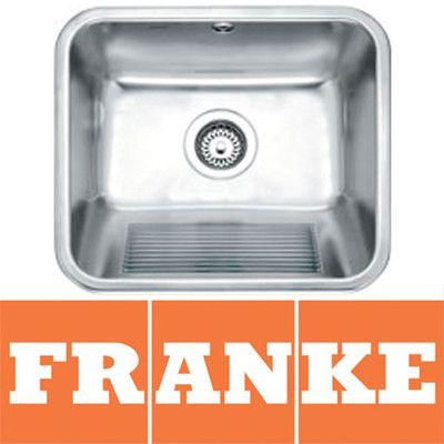 Franke Laundry Tub : Franke Utility 50 1.0 Bowl Brushed Stainless Steel Kitchen Sink & Was ...
