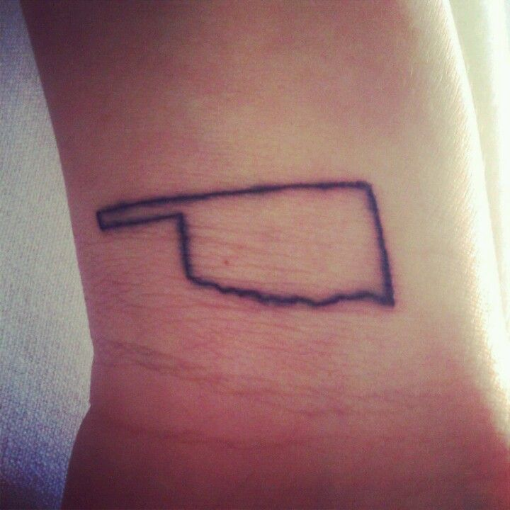 Maybe a smaller version on the side of my wrist? #tattoo #oklahoma #wristtat #inked
