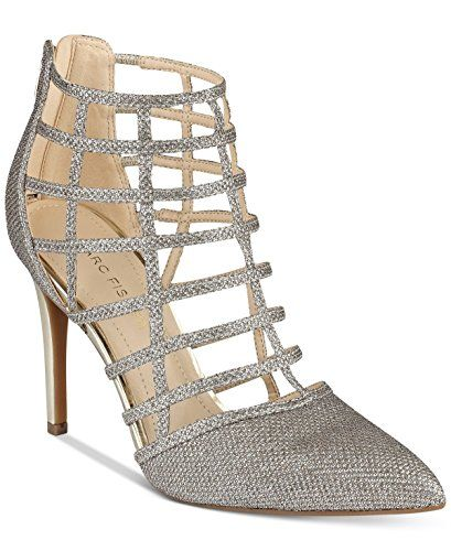 ff7e922f10a4 Marc Fisher Womens Naples 3 Fabric Pointed Toe Special Occasion Ankle Strap  S. Review