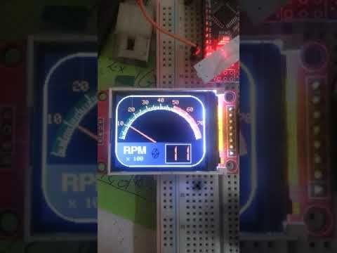 Arduino ST7735 full color tft car tachometer gauge