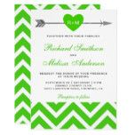 Tribal Arrow Green Chevron Wedding Invitation #weddinginspiration #wedding #weddinginvitions #weddingideas #bride