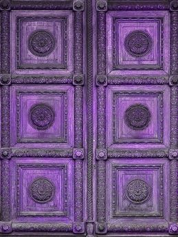 purple door - this is a door, but it could be used to make a quilt pattern...hmmmmm