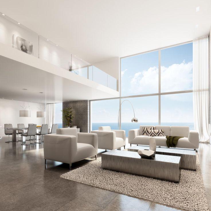 3D Architectural Rendering. Tile Living RoomModern ...