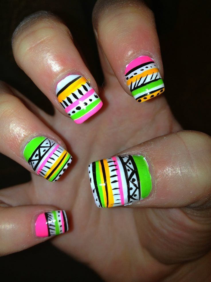 Cute Nail Designs For Spring Break Neon Nail Designs for ...