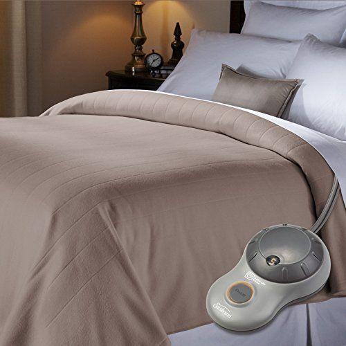 Electric Heated Fleece Blanket Bed For Comfort Soft 10 heat settings  Queen Size #Sunbeam #Modern