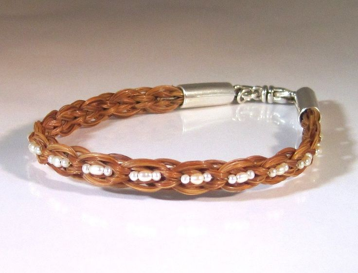 HORSEHAIR BRACELET | Home Jewelry Bracelets Equestrian Horsehair Rectangular Braid Bracelet ... - like this, but with my own horse's hair
