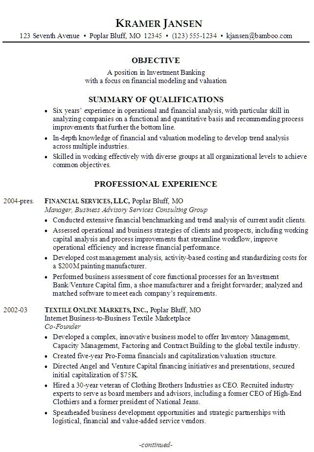 20 Best Idea Banking Resume Example Check More At Http Sktrnhorn Co Job Sample Examples Personal Statement For