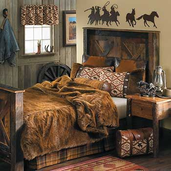 59 best images about western bedrooms on pinterest for Cowboy themed bedroom ideas