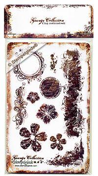 © Stempelglede® Grunge Collection. Unmounted Rubber Stamp Sheet.   http://www.stempelglede.com/stemplergrunge_en.html