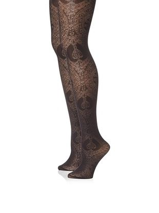 Emilio Cavallini Women's 2-Pack Lace Jacquard Tights