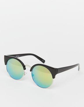 Jeepers Peepers – Pastellfarbene, runde, verspiegelte Sonnenbrille