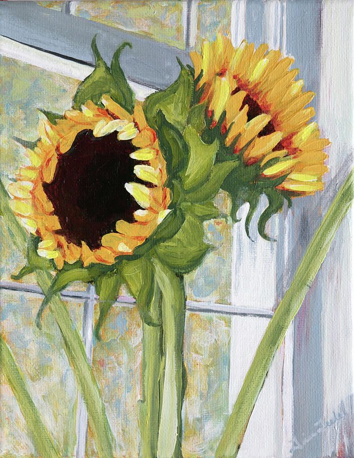 17 best images about art sunflowers on pinterest for How to paint sunflowers in acrylic