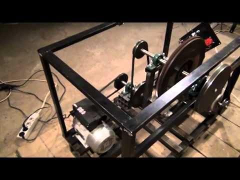 Chas Chambell Free Energy Generator Replica - Generating 2340 Watts using 750W - YouTube