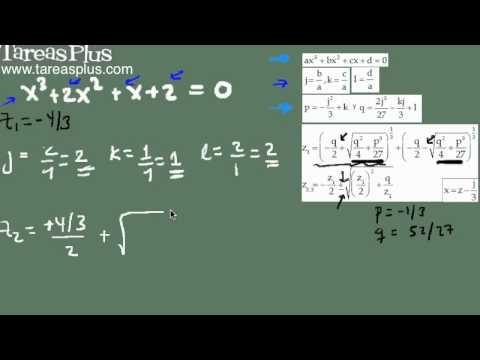 Solución ecuación cúbica CASO II (raíces complejas)