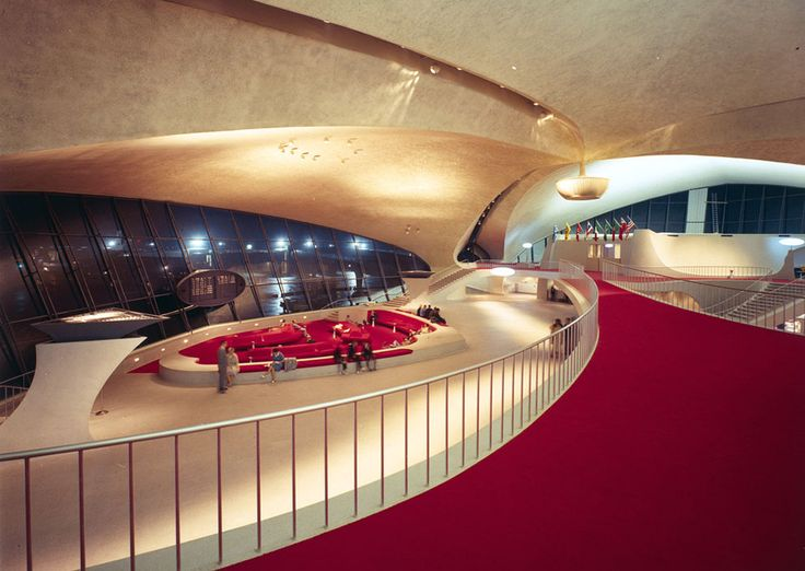 Interior of the TWA Terminal, circa 1962. (Library of Congress/Balthazar Korab) / The 20th-Century Architecture of Eero Saarinen - In Focus - The Atlantic