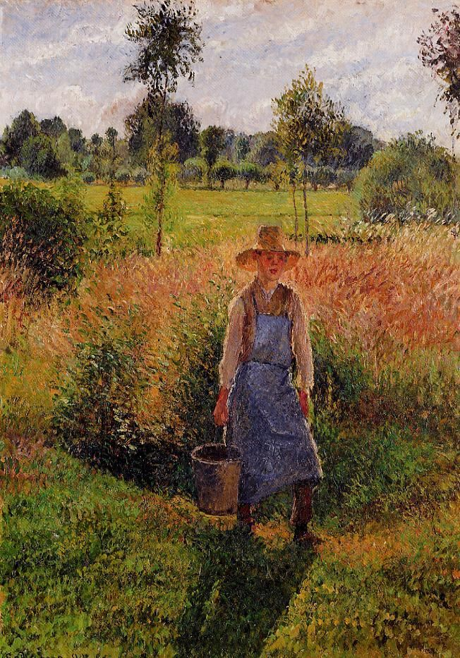 the gardener afternoon sun eragny camille pissarro