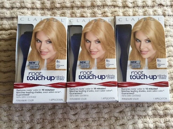 LOT X 3 CLAIROL ROOT TOUCH UP PERMANENT COLOR 8G MEDIUM GOLDEN BLONDE  | eBay