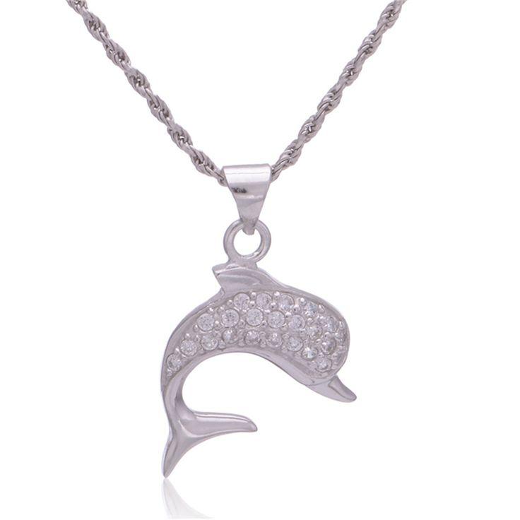 Купить товарДельфин ожерелье рыба подвески для женщин ювелирные изделия стерлингового серебра 925 кристалл пойнт кулон пентаграмма очаровывает FPETV115 в категории Подвескина AliExpress.                                            Подробно имя                    Дельфин ожерелье рыбы Подвески дл