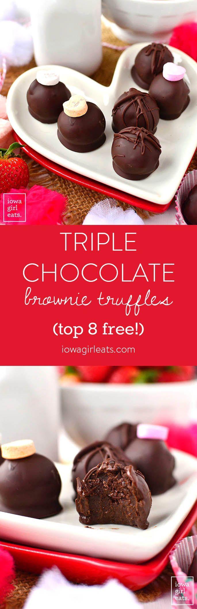 트리플 초콜릿 브라우니 트러플