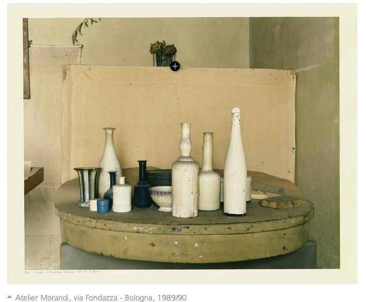 """""""Atelier Morandi"""" 1989-90 Luigi Ghirri (Scandiano 1943- Reggio Emilia 1992)"""