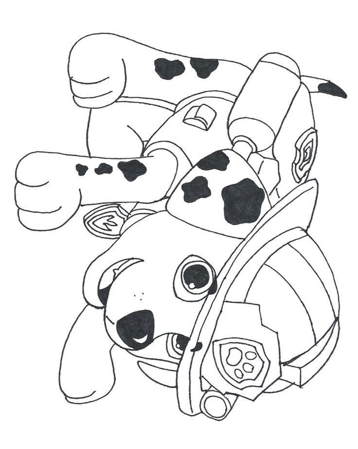 Fiesta de paw patrol -- Los coloreables, seguro a tus invitados les encanta colorear con crayones!!  MARSHALL paw-marshall-coloreable