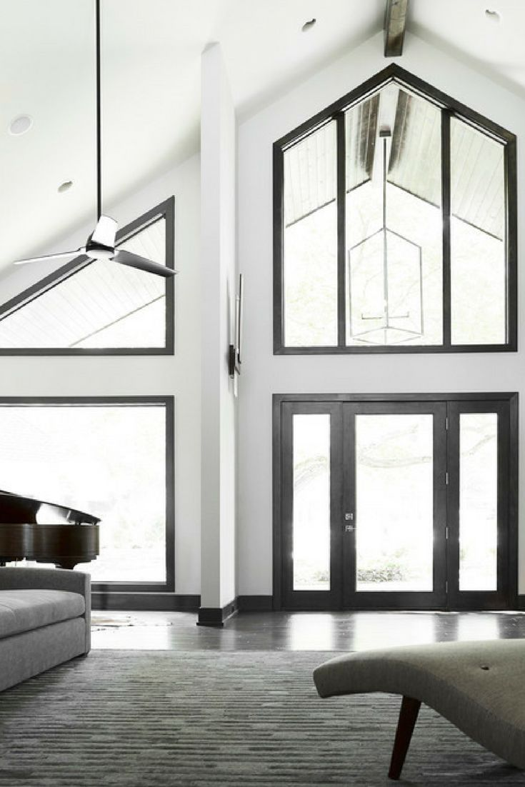 Black trim is versatile. It can look great in Contemporary, Craftsman or Farmhouse style homes.