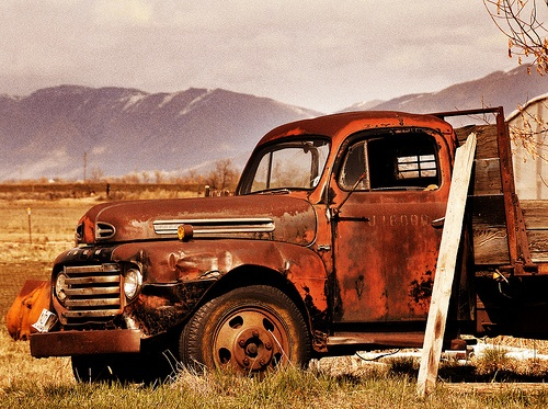 Old abandoned truck | Old Trucks & Cars | Pinterest ...