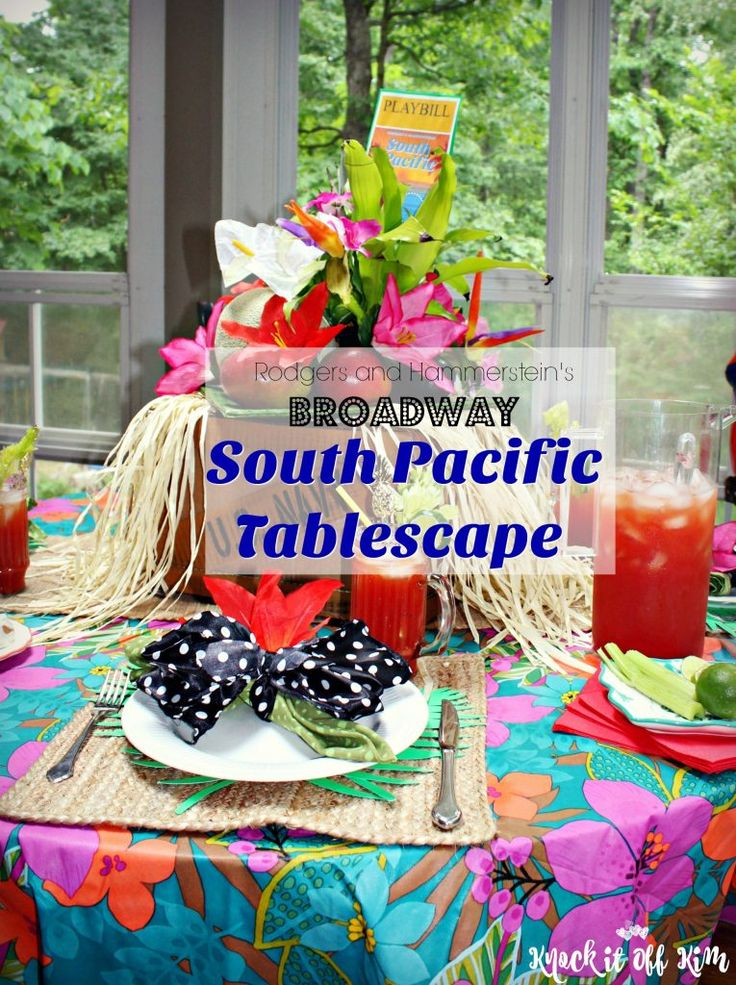 South Pacific Broadway Tablescape Tony Awards