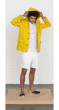 I always wanted a bright yellow mens raincoat!
