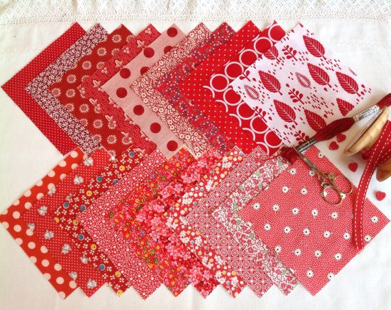 """20 x 5""""  Charm squares for patchwork"""