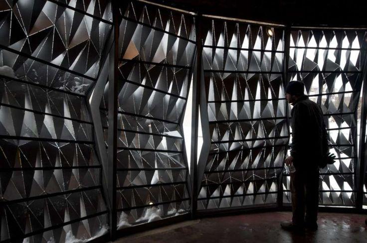 U Michigan Students Give Detroit Storefront a Metallic Facelift - Architizer