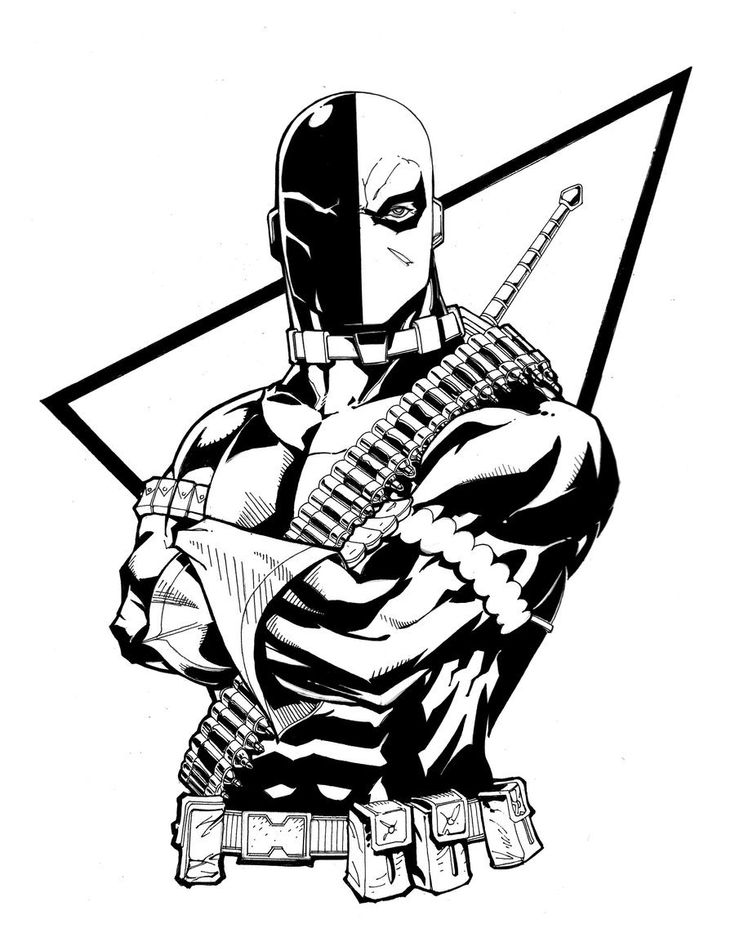 coloring pages of deathstroke costume - photo#14