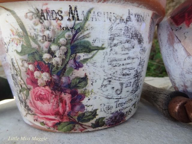 Pretty Planters...how to transfer images