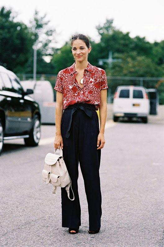 #street #style #fashion New York Fashion Week SS 2015....Before Alexander Wang
