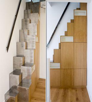 Le blog de l'Atelier Gérald Bell | L'escalier à pas japonais métal et bois