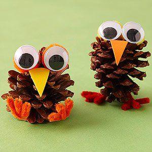 Bricoler les cocottes de pin avec les enfants! - Trucs et Bricolages