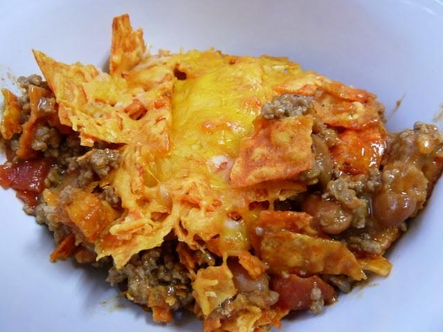 Mexican Dorito Casserole Used Regular Doritos Mild Chili Beans And Mild Rotel Tomatoes Still
