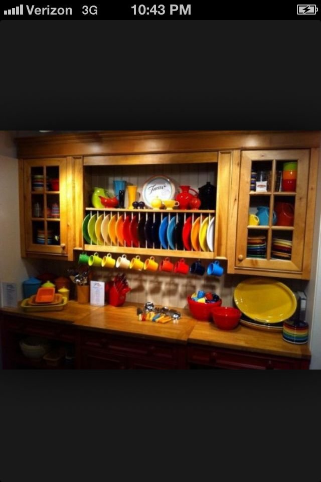 This is the first time I'Ve ever considered those open plate rakes... Hmmm....  But not so much clutter on the counter, for sure. :)
